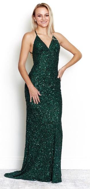 Rockefeller Sequin Gown  - Emerald Green