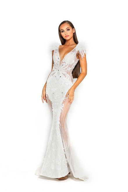 Style 1986 The Fufu Gown White by Portia & Scarlett from Lady Black Tie