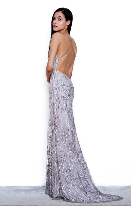 Art Deco Gown - Platinum Silver