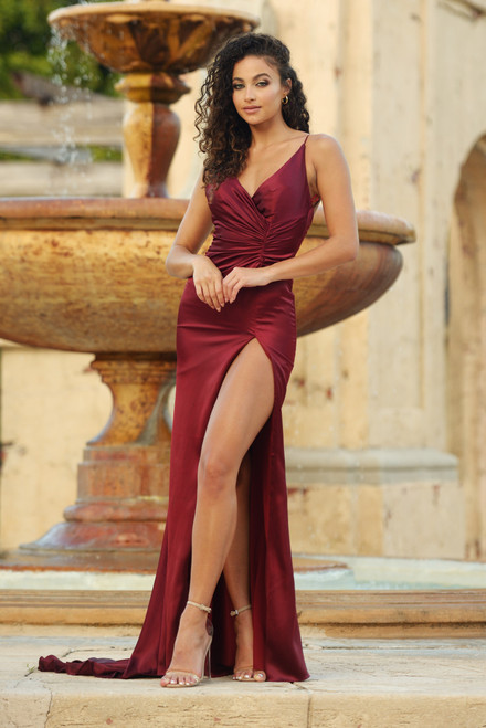Hugo Gown - DEEP RED - Portia & Scarlett Lady Black tie