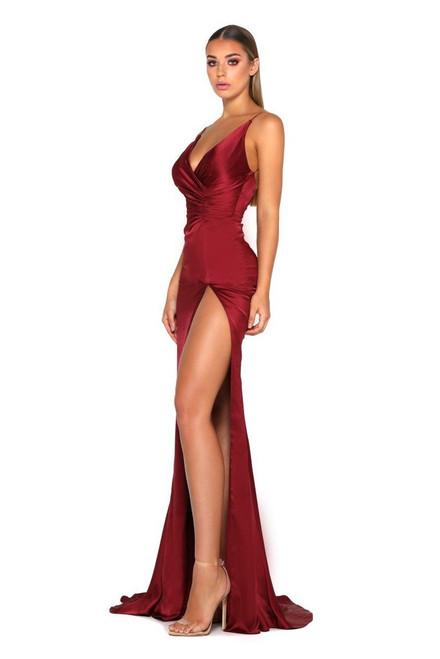 Hugo Gown - DEEP RED - Portia & Scarlett Lady Black tie