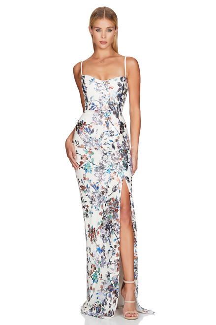 Azalea Sequin Gown - White / MultiColor - Nookie, Lady Black Tie