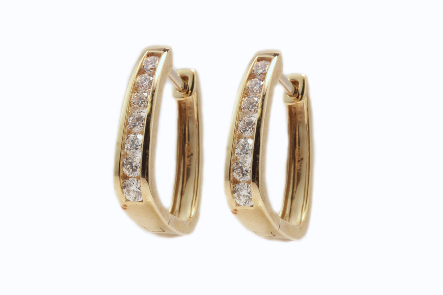 14 Karat Yellow Gold .33ctw Diamond Huggie Earrings