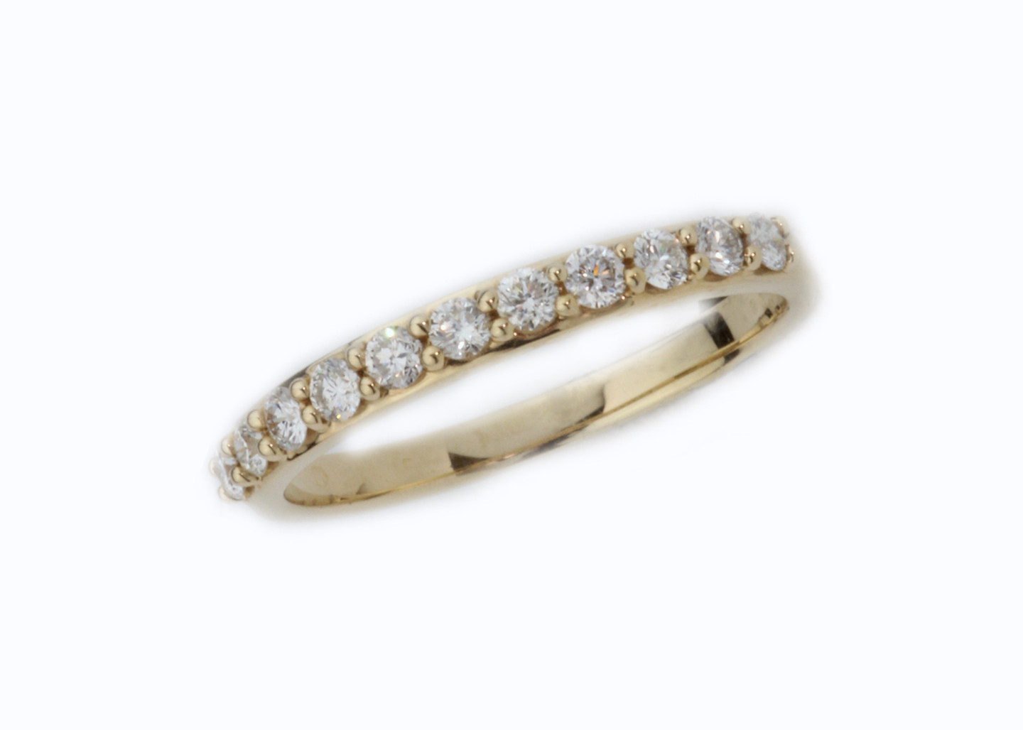 14 Karat Yellow Gold .39 ctw 11 Round Diamond Band