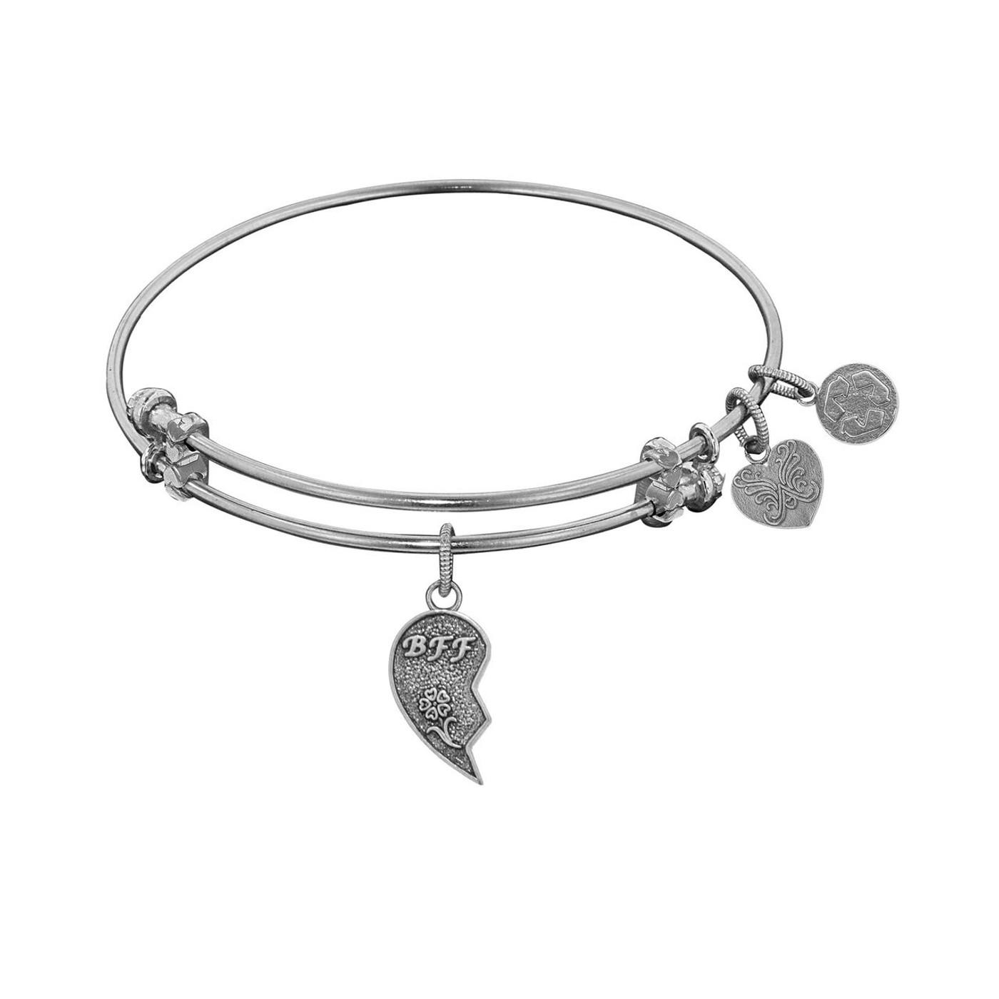 Angelica White Brass Left Half Best Friends Bracelet