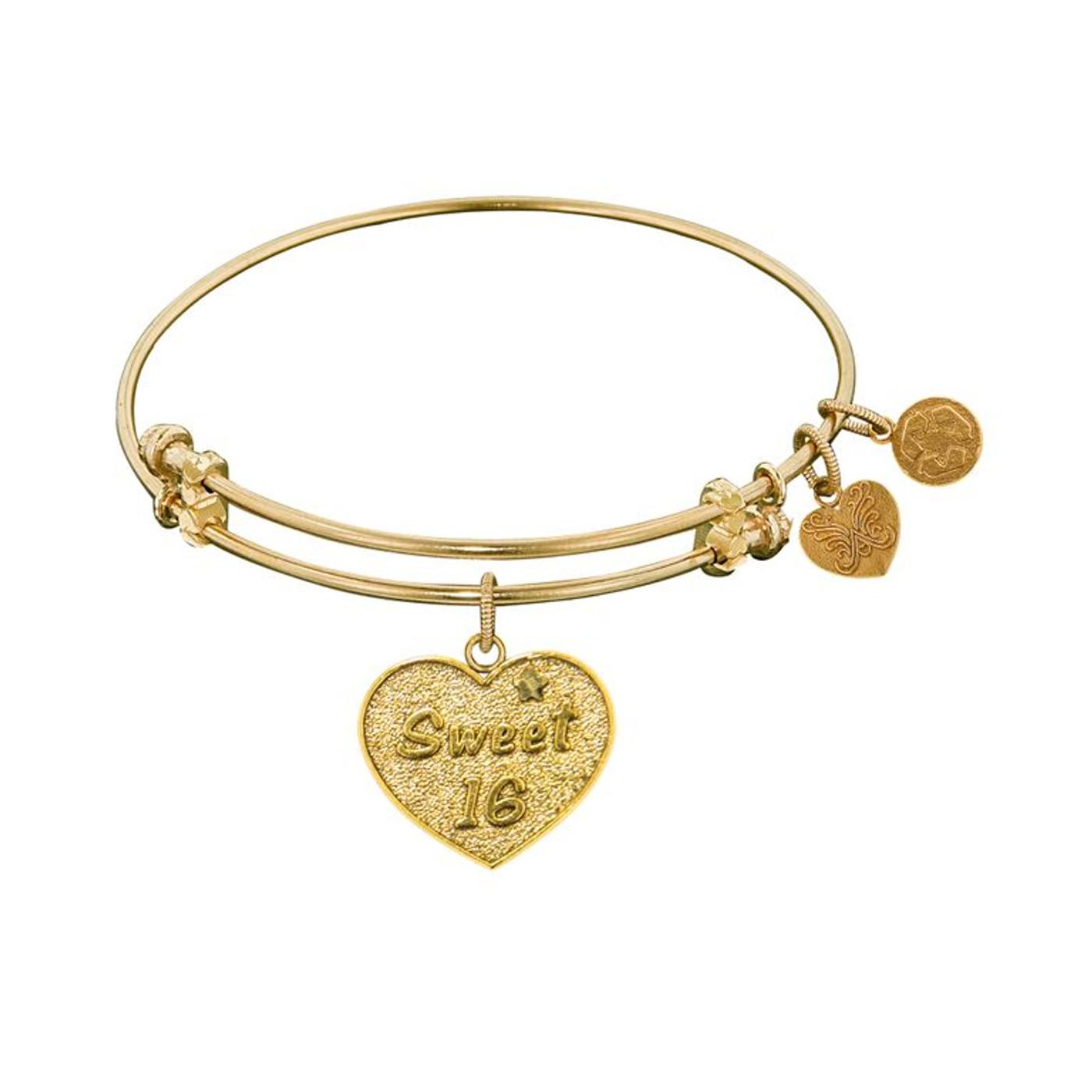 Angelica Yellow Brass Sweet 16 Bracelet
