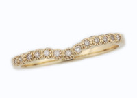 14 Karat Yellow Gold .09 ctw Diamond Curve Band