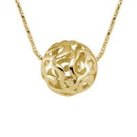14 Karat Yellow Gold Sphere Necklace