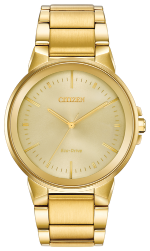 Gents Eco Drive Gold with Ivory Face