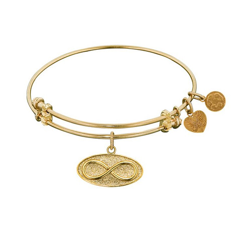 Angelica Yellow Brass Infinity Bracelet