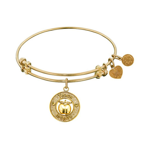 Angelica Yellow Brass Teacher Apple Bracelet