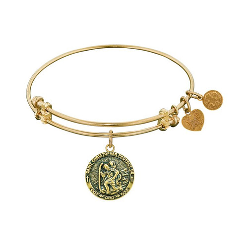 Angelica Yellow Brass St Christopher Bracelet