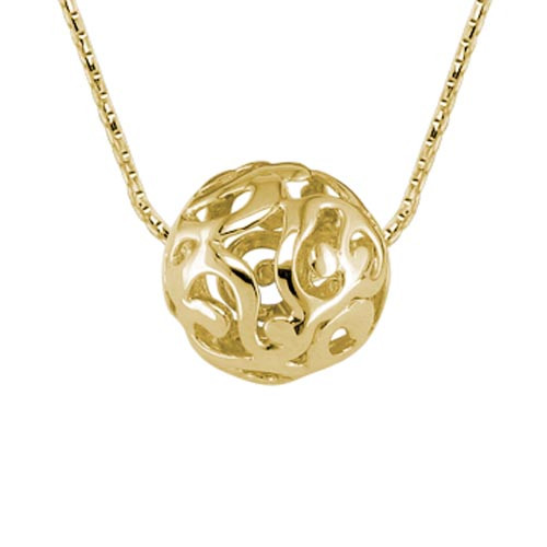 14 Karat Yellow Gold Sphere Necklace
