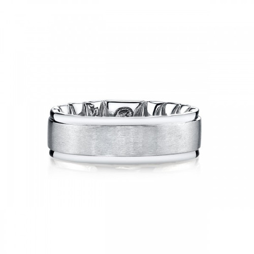 10 Karat White Gold Men's Mfit Band 8mm