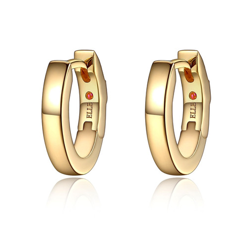 Elle Small Gold Plated Hoops
