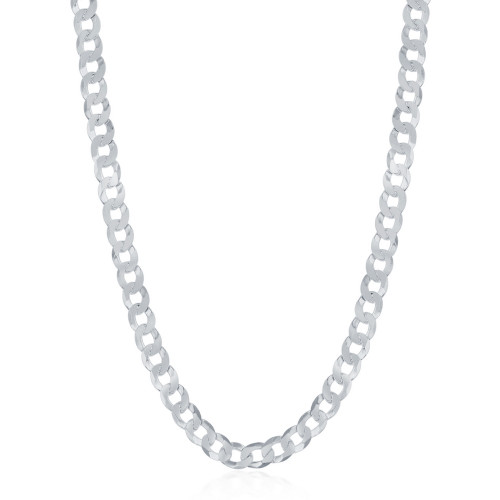 "Sterling Silver 20"" 3.45mm Cuban Chain"