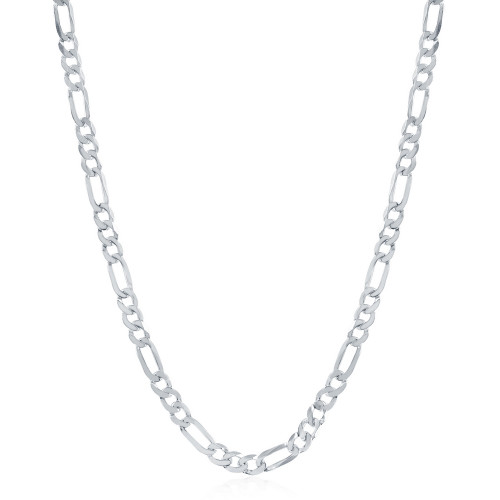 "Sterling Silver 24"" 4.2mm Figaro Chain"