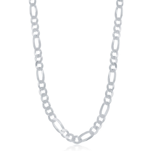 """Sterling Silver 30"""" 5.8mm Figaro Chain"""