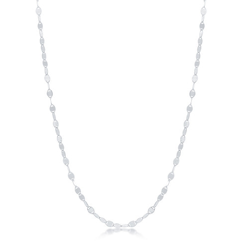 Sterling Silver Flat Mirror Oval Chain