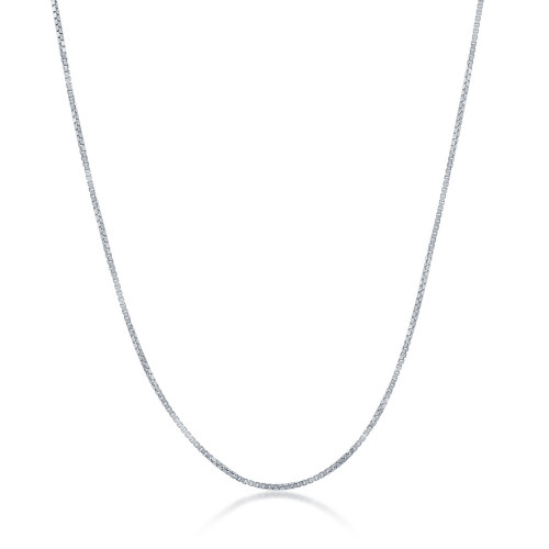 "Sterling Silver 20"" 0.85mm box chain"