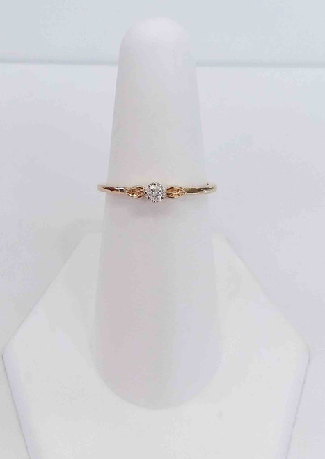 10K Yellow Gold Solitare Promise Diamond ring 0.05 DTW