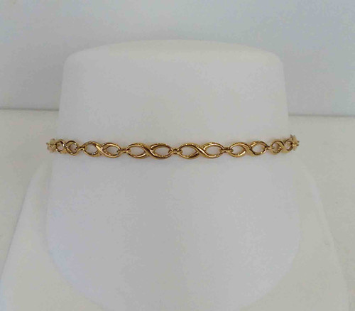 10K Yellow Gold Infinity Link Ladies Bracelet