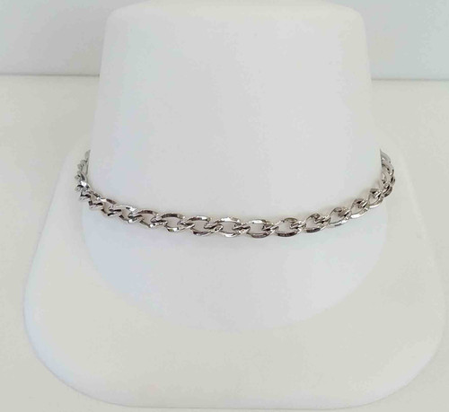 10K White Gold Ladies High Polish Bracelet