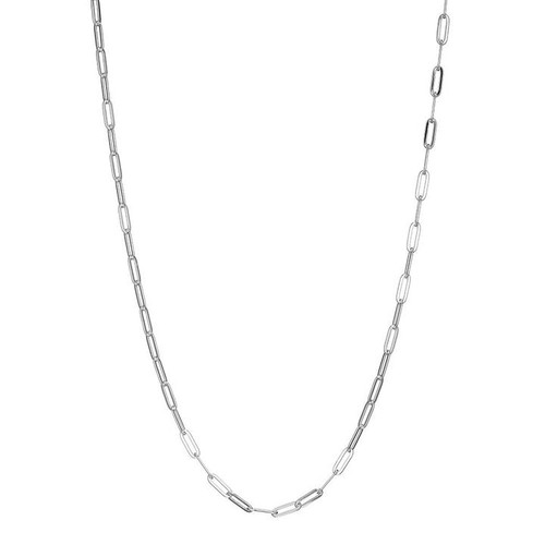 Elle Sterling Silver Paperclip Chain 24""