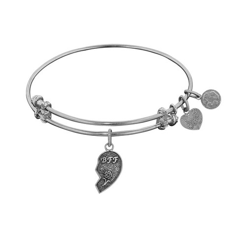 Angelica White Brass Right-Half Heart Best Friends Bracelet