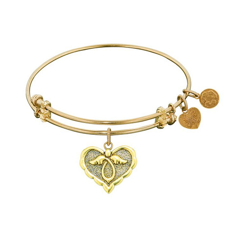 Angelica Yellow Brass Angel Bracelet