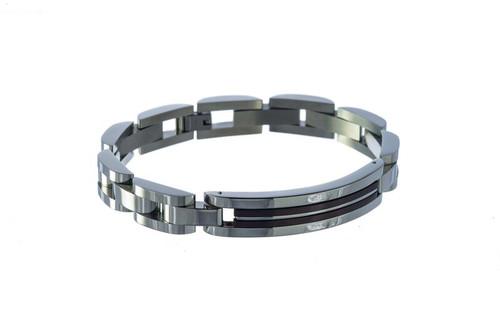 """SteelX Steel/Copper Link Bracelet 9"""""""