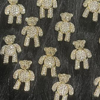 Golden Bear Nail Art