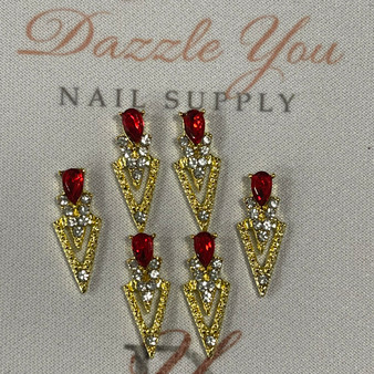 Metal Art 6 pack Red and Gold