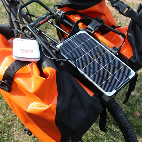 3.5 Watt panel on Bicycle