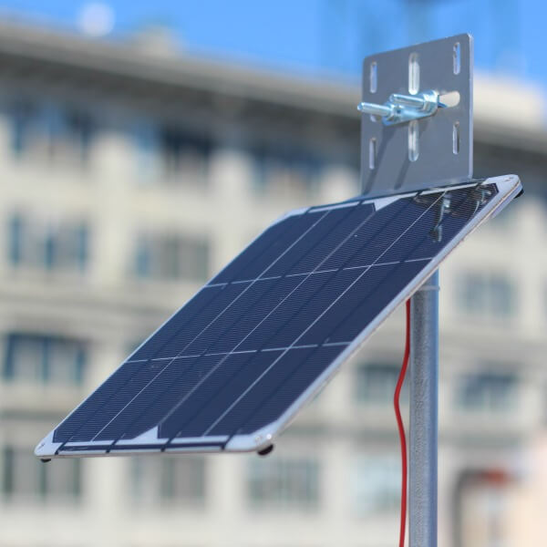 small solar panel mount