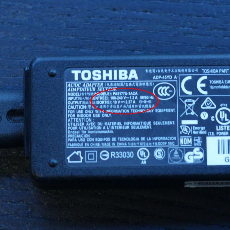 laptop battery size specification