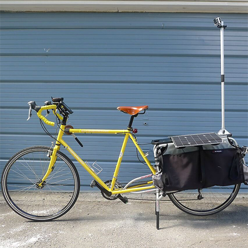 17 Watt Kit attached to bicycle