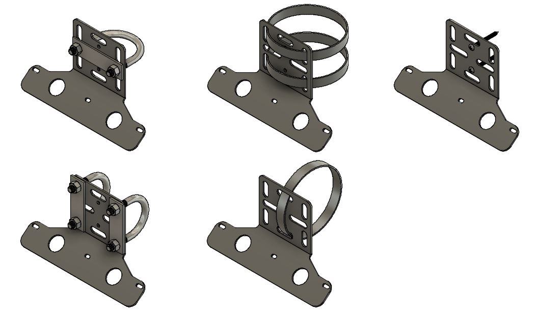 Medium Solar Panel Bracket Mounting Options