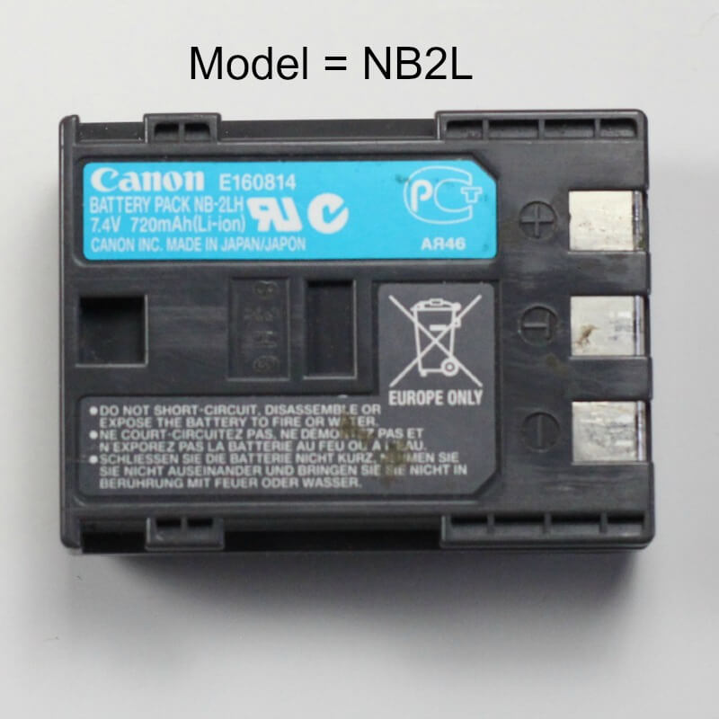 How to tell camera battery model type