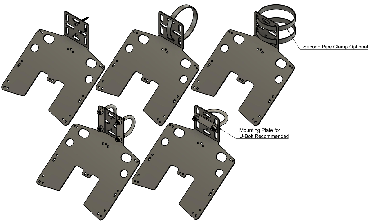 Large Solar Panel Bracket Mounting Options