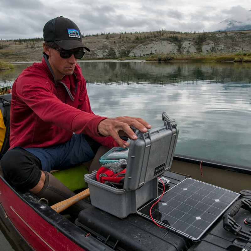 solar panel on canoe iLCP