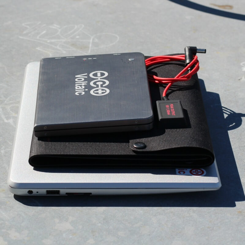 size of solar panel to charge laptop