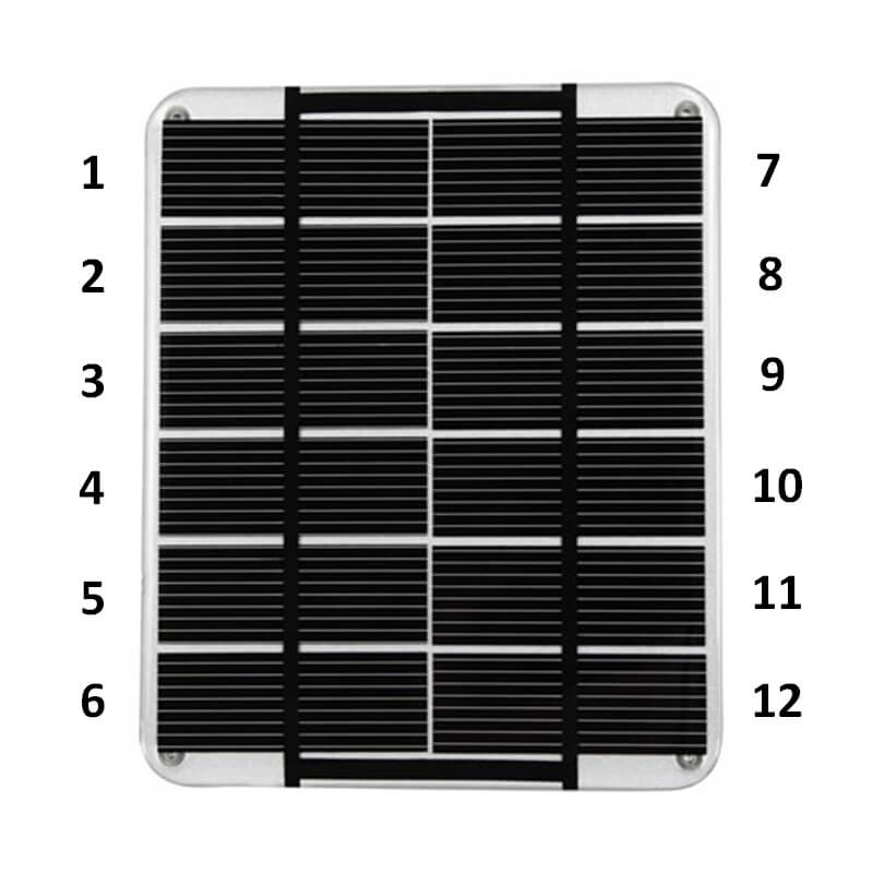 string cells in series solar panel