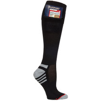 Mens Passport Security Pocket Socks - Black - Over the Calf