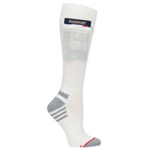 Mens Passport Security Pocket Socks - Natural White - Over the Calf