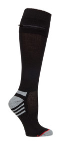 Womens One Size Passport Security Pocket Socks - Black - Over the Calf