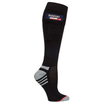 Womens Passport Security Pocket Socks - Black - Over the Calf