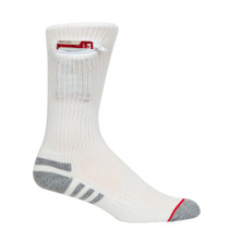 Mens One Size Everyday Security Athletic Travel Pocket Socks - Natural White - Crew