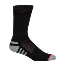 Crew Pocket Socks, Black, Womens