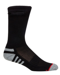 Mens Everyday Security Athletic Travel Pocket Socks - Black - Crew